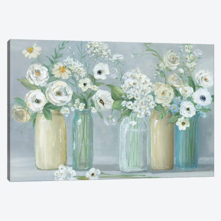 Blooming Meadow Beauties 3-Piece Canvas #SWA67} by Sally Swatland Canvas Print