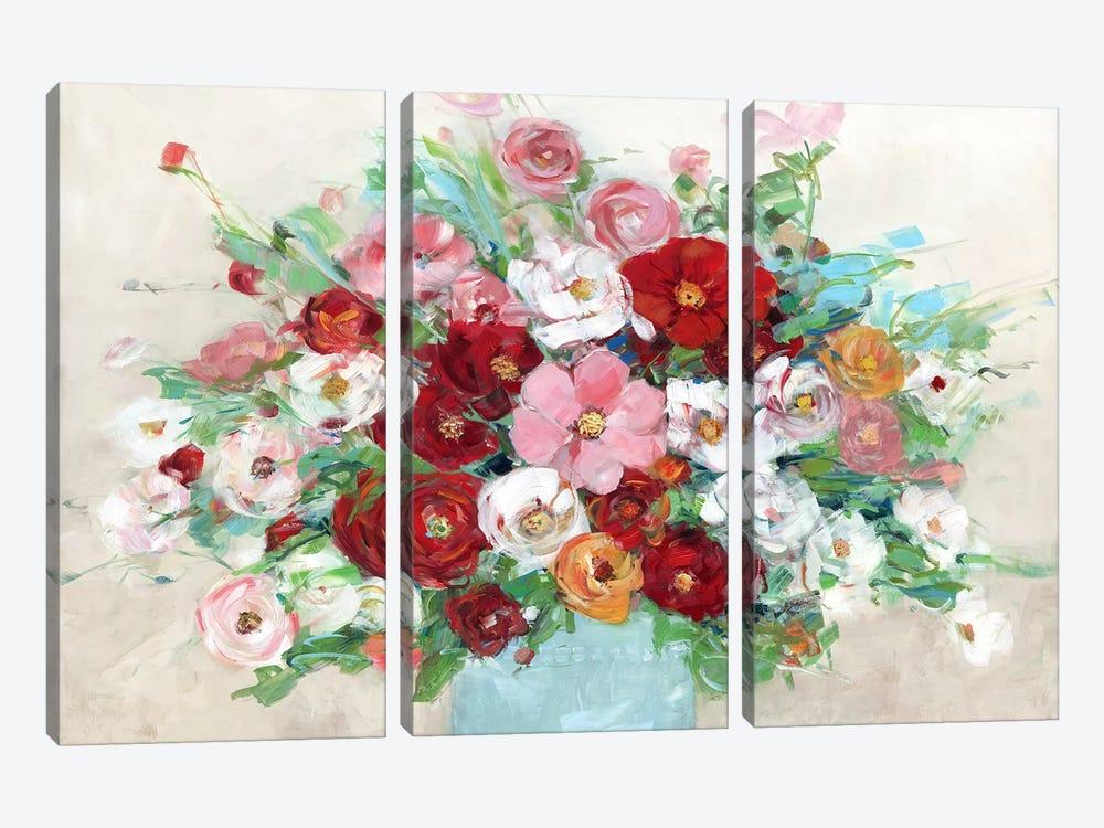 Confetti Flowers by Sally Swatland 3-piece Canvas Wall Art