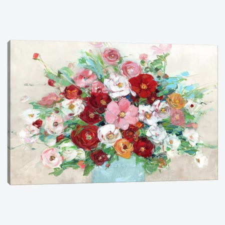 Confetti Flowers Canvas Print #SWA69} by Sally Swatland Canvas Wall Art