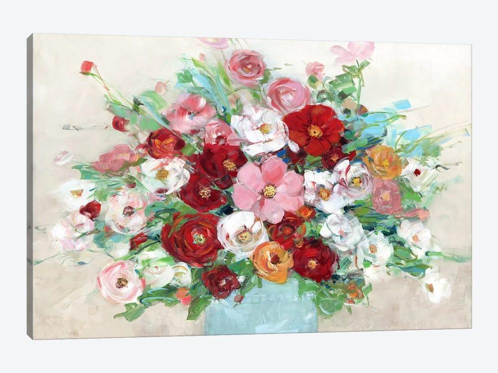 Confetti Flowers by Sally Swatland 1-piece Canvas Art