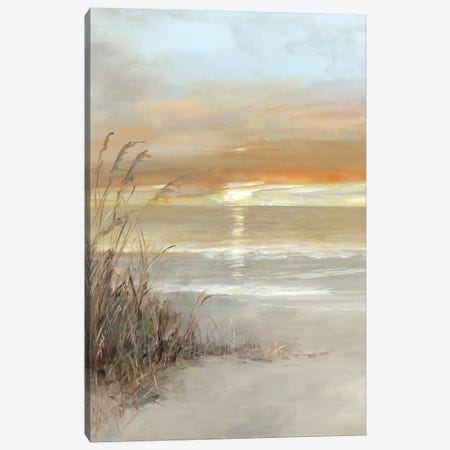 Malibu Sunset Canvas Print #SWA76} by Sally Swatland Canvas Art