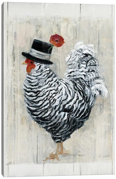 Sunday Best Rooster Canvas Art Print