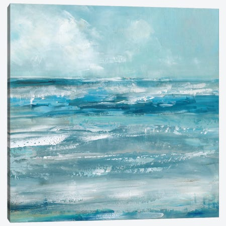 Windswept Waves Canvas Print #SWA80} by Sally Swatland Canvas Art