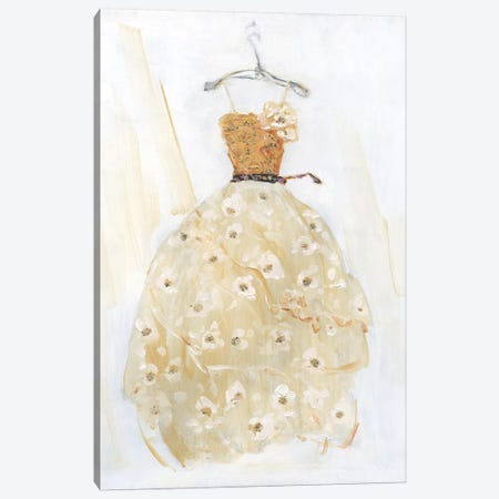 Ball Gown I Canvas Print #SWA81} by Sally Swatland Canvas Wall Art