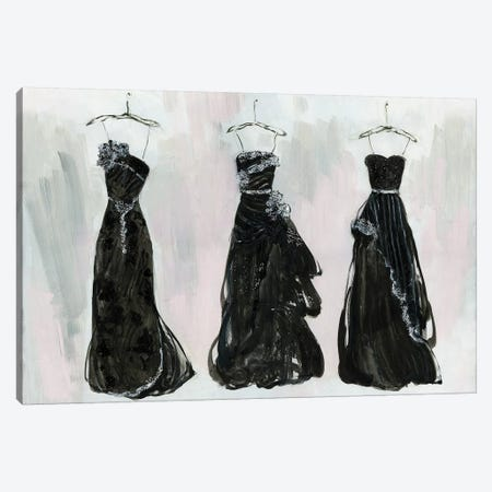 Black and Bling I Canvas Print #SWA83} by Sally Swatland Canvas Artwork