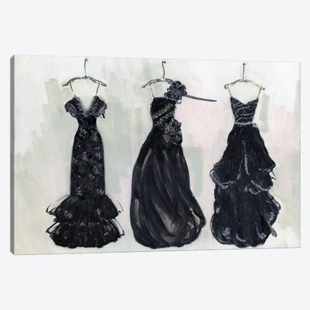 Black and Bling II 3-Piece Canvas #SWA84} by Sally Swatland Canvas Print