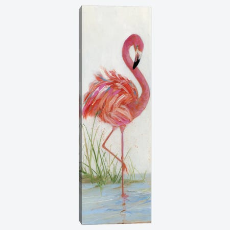 Flamingo I Canvas Print #SWA8} by Sally Swatland Canvas Artwork