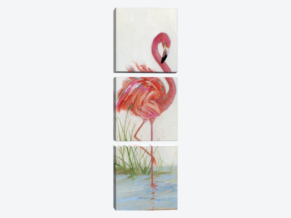 Flamingo I by Sally Swatland 3-piece Canvas Artwork