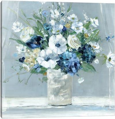Be Happy Blue Canvas Art Print