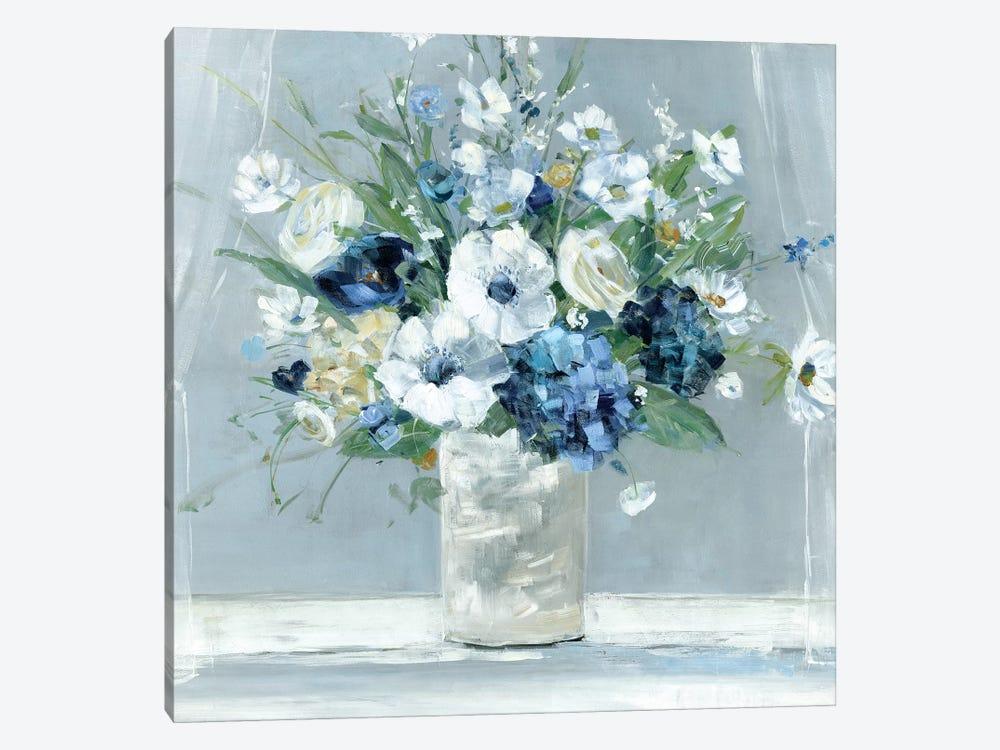Be Happy Blue by Sally Swatland 1-piece Canvas Artwork