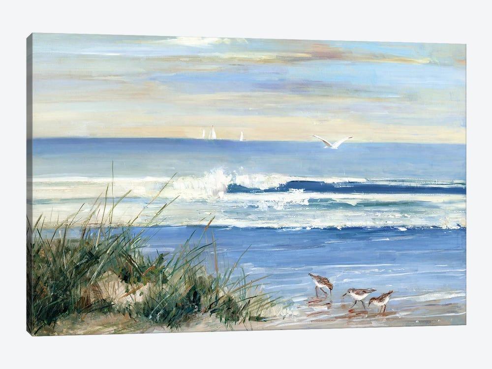 Beach Combers by Sally Swatland 1-piece Canvas Art Print