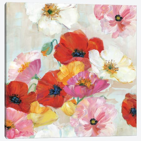 Confetti Flowers II Canvas Print #SWA95} by Sally Swatland Canvas Artwork