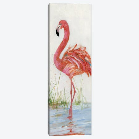 Flamingo II Canvas Print #SWA9} by Sally Swatland Canvas Artwork