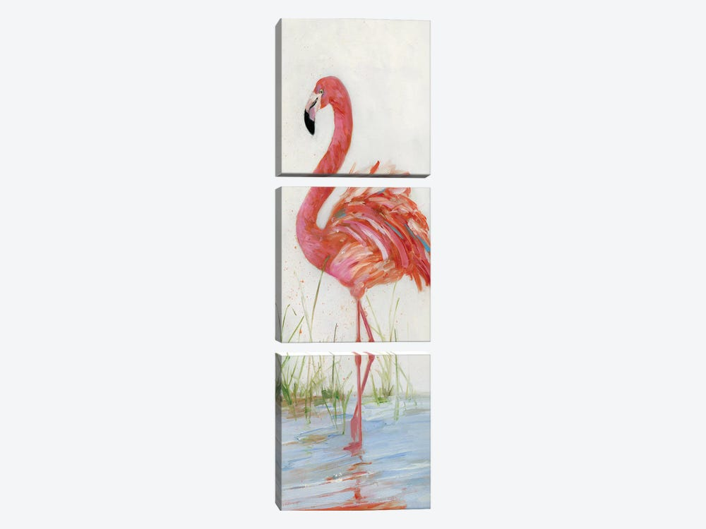 Flamingo II by Sally Swatland 3-piece Canvas Art Print