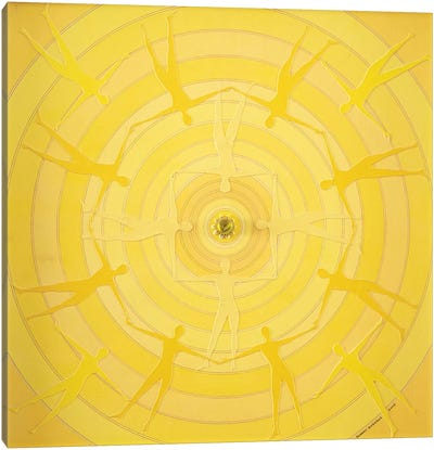 Yellow Spin Canvas Art Print