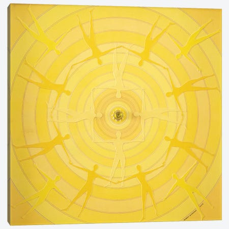 Yellow Spin Canvas Print #SWD102} by Robert Swedroe Canvas Wall Art