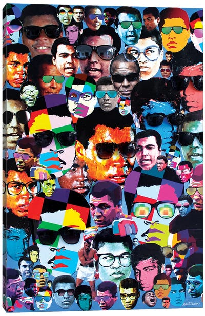 Many Shades Of Muhammad Ali Canvas Art Print
