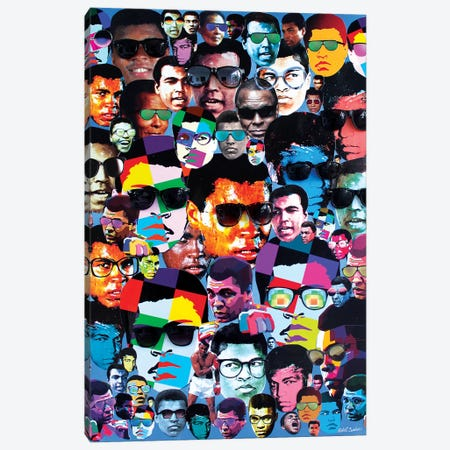 Many Shades Of Muhammad Ali Canvas Print #SWD124} by Robert Swedroe Canvas Print