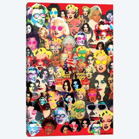 The Many Faces Of Marilyn And Liz Canvas Print #SWD127} by Robert Swedroe Canvas Print