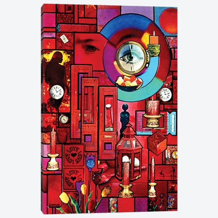 The Girl With Kaleidoscope Eyes Canvas Print #SWD155} by Robert Swedroe Canvas Wall Art