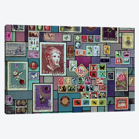 Philatelist Dream Canvas Print #SWD180} by Robert Swedroe Canvas Art