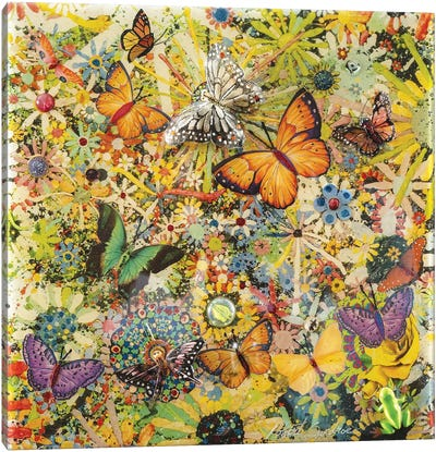 Butterfly Garden Canvas Art Print