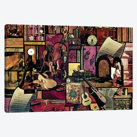 Le Violins Canvas Print #SWD206} by Robert Swedroe Canvas Wall Art