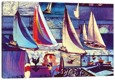 Sailing Canvas Art Print