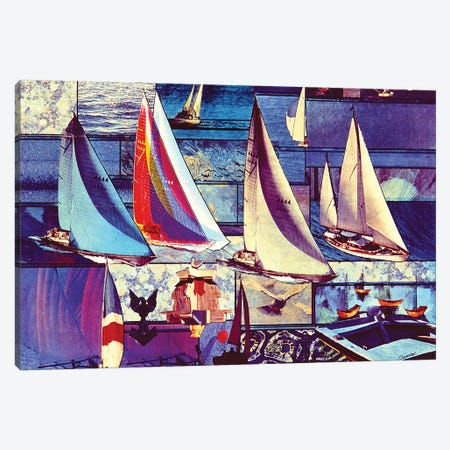 Sailing 3-Piece Canvas #SWD245} by Robert Swedroe Canvas Wall Art