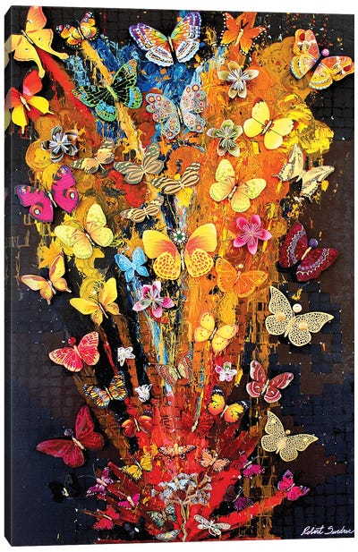Butterflies In Bloom Canvas Art Print