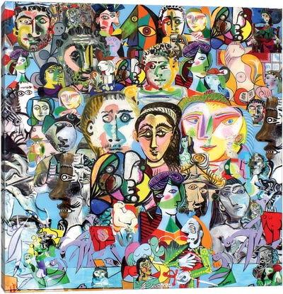 The Many Faces Of Picasso Canvas Art Print