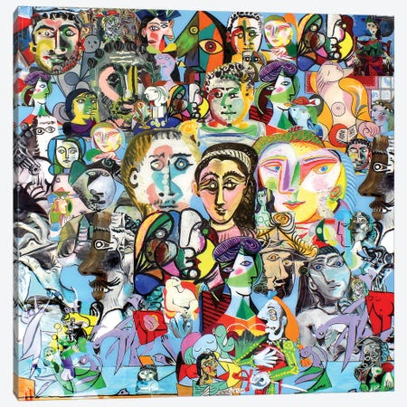 The Many Faces Of Picasso Canvas Print #SWD255} by Robert Swedroe Canvas Print