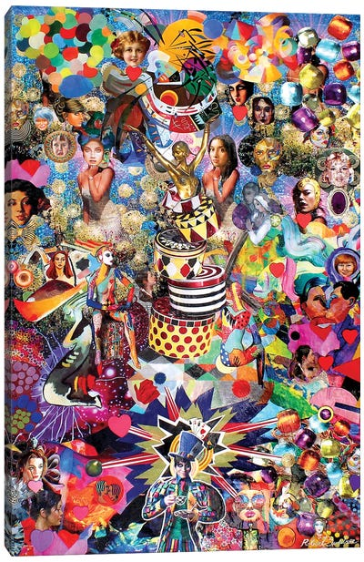 The Mad Hatter And His Many Varied Friends Canvas Art Print