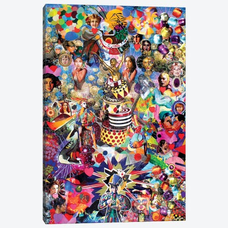 The Mad Hatter And His Many Varied Friends Canvas Print #SWD259} by Robert Swedroe Canvas Art