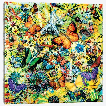 Mystical Butterfly Garden Quest Canvas Print #SWD281} by Robert Swedroe Canvas Print