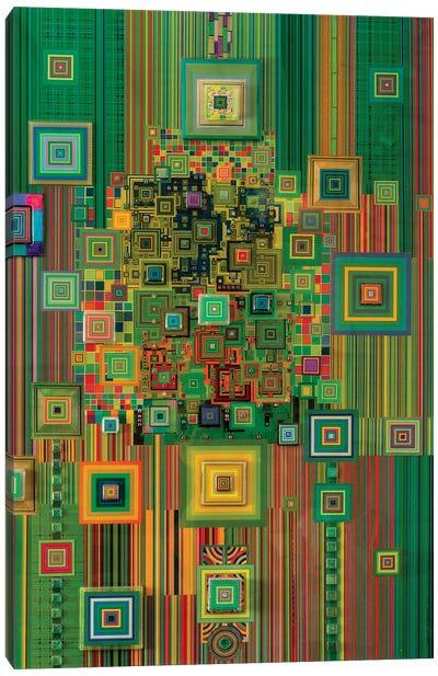 Green Flashdrive Canvas Art Print