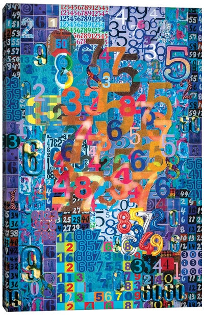 Numerical Patterns I Canvas Art Print