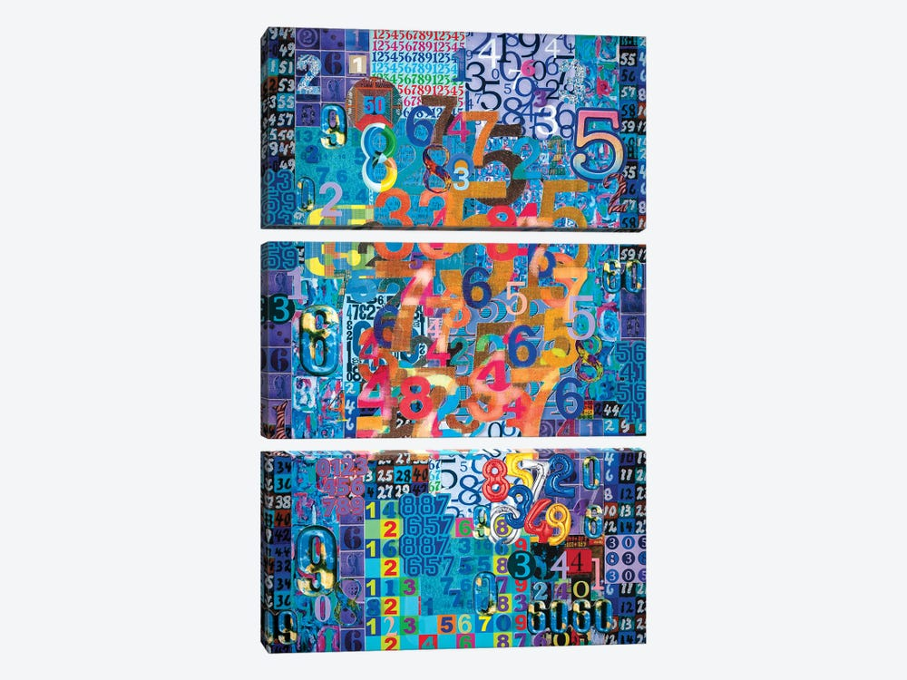 Numerical Patterns I by Robert Swedroe 3-piece Canvas Artwork
