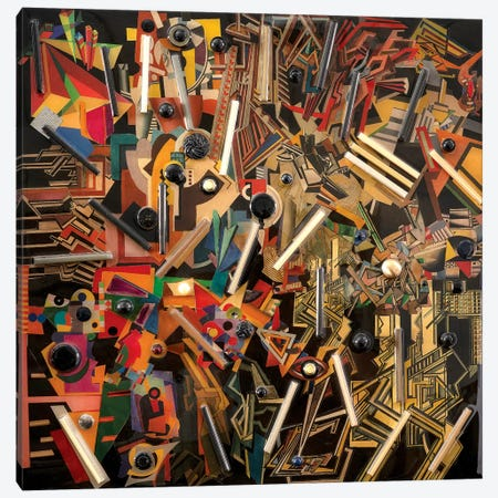 Ode To Vorticism Canvas Print #SWD53} by Robert Swedroe Canvas Wall Art