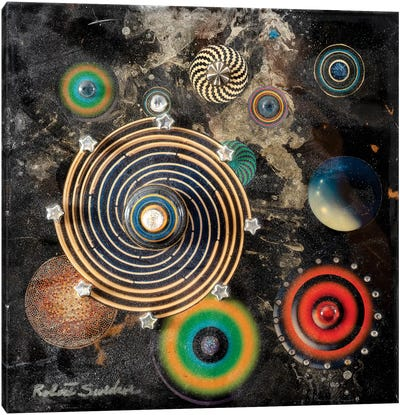 Asteroid Circus Canvas Art Print