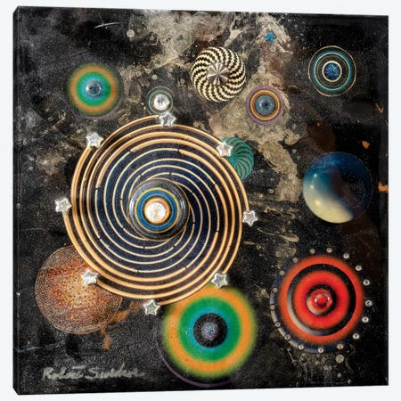 Asteroid Circus Canvas Print #SWD9} by Robert Swedroe Art Print