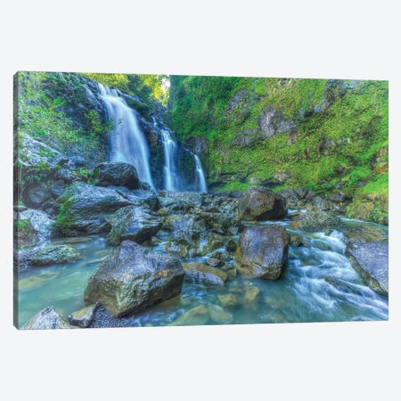 Waikani Falls, Hana Highway near Hana, East Maui, Hawaii, USA Canvas Print #SWE104} by Stuart Westmorland Canvas Art