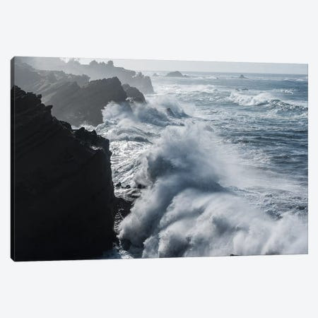 Winter storm watching, Shore Acres State Park, Southern Oregon Coast, USA Canvas Print #SWE108} by Stuart Westmorland Art Print