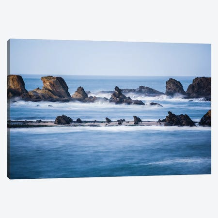 Winter storm watching, Shore Acres State Park, Southern Oregon Coast, USA Canvas Print #SWE110} by Stuart Westmorland Canvas Artwork
