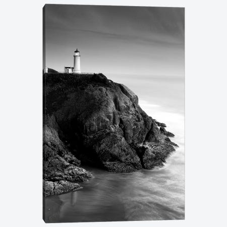 North Head Lighthouse In B&W, North Head, Cape Disappointment State Park, Washington, USA Canvas Print #SWE11} by Stuart Westmorland Art Print