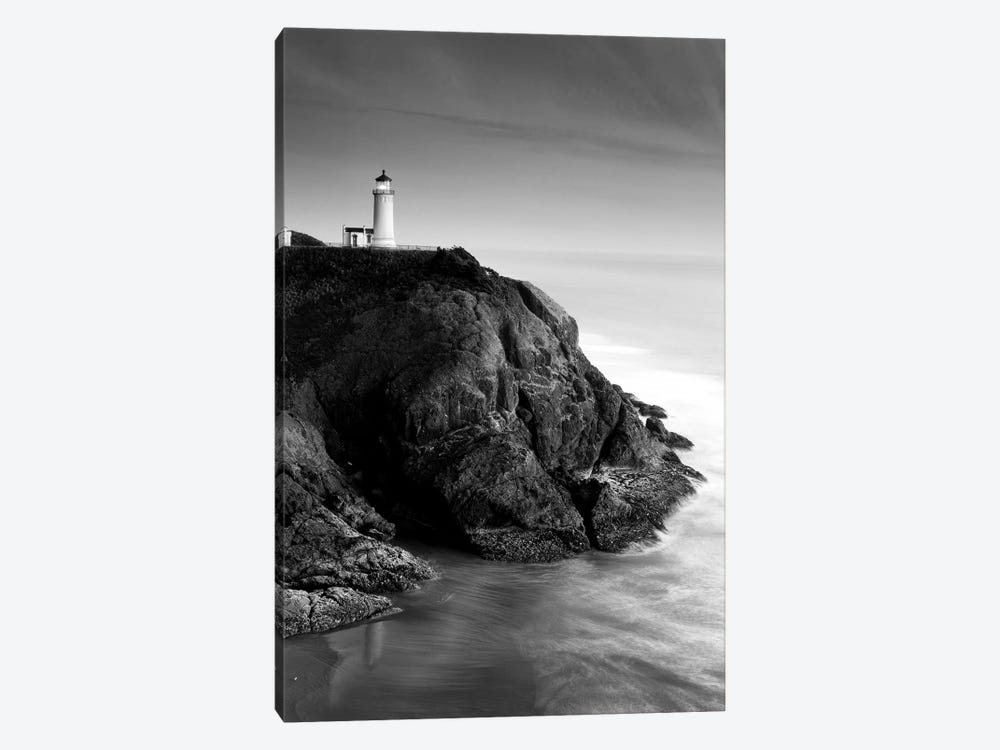 North Head Lighthouse In B&W, North Head, Cape Disappointment State Park, Washington, USA by Stuart Westmorland 1-piece Canvas Art
