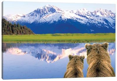 Alaska Brown Bears, Alaska. Canvas Art Print