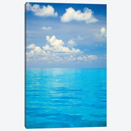 Close-up of blue tropical water, Bahamas. Canvas Print #SWE21} by Stuart Westmorland Canvas Art