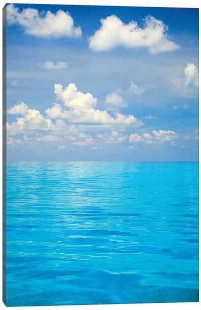 Close-up of blue tropical water, Bahamas. Canvas Art Print