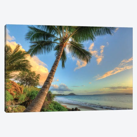 Sunset at beach, Wailea, Maui, Hawaii, USA Canvas Print #SWE26} by Stuart Westmorland Art Print